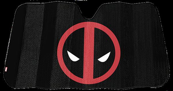Picture of Marvel Deadpool Black Matte Accordion Sunshade