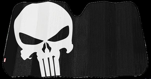Picture of Marvel Punisher Black Matte Accordion Sunshade