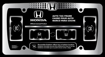 Picture of Honda Reversible Logo Chrome Frame