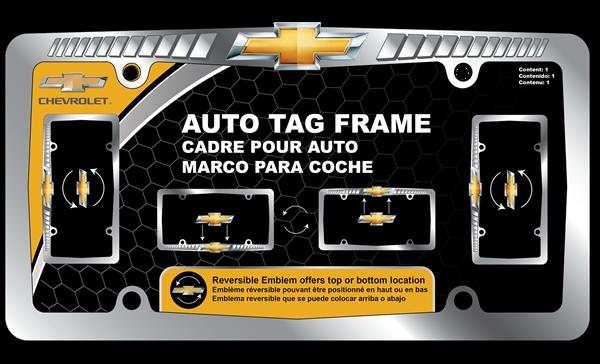 Picture of Chevrolet Reversible Logo Chrome Frame